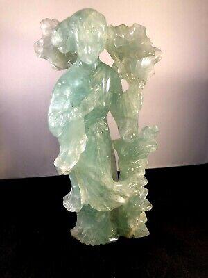 Antique Chinese Green Quartz Figurine 7
