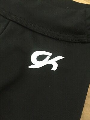 Girls GK Black Gymnastics Leggings Size CXS 2