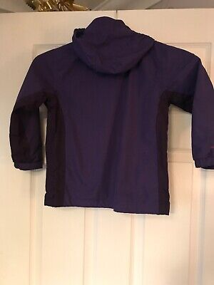 Regatta Hydrafort Purple Hooded Waterproof Coat Age 3-4 Years 3