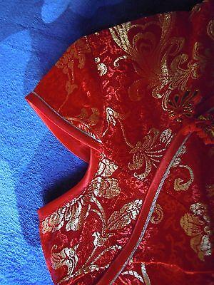 Cheongsam/qipao (Abito rosso e dorato tradizionale cinese) 5