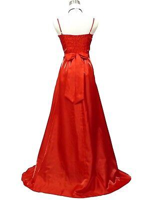 9e0f67b7f6d ... Robe de soirée rouge longue avec broderies fleuries or taille 42-44 5