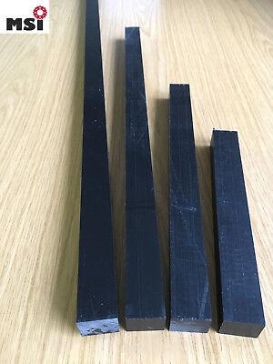 POM (20€/m) Vierkant Zuschnitt Leiste 15 bis 50 mm schwarz weiß Platte versch. L 2