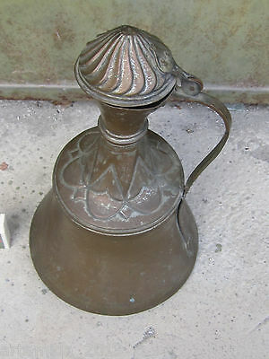 RARE ANTIQUE OTTOMAN ERA COOPER JUG PITCHER TURKISH ISLAMIC HAND MADE 19th C 2