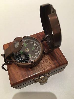 Soldiers Military Thumb Compass Vintage Brass WW2 1940 Navigation World War II 5