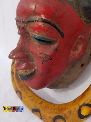 POWERFUL Polychrome Guro Baule Mask Figure Sculpture Statue Fine African Art 8