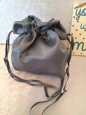 PLAIN DOLLY BAG BRIDAL BRIDESMAID FLOWER GIRL BNIP ASS. COLS. ** free samples** 6