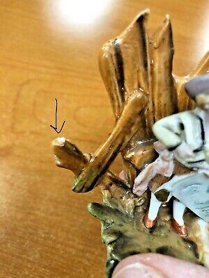 Antique Miniature Bisque Figurine Boy Kite Hand Painted 9