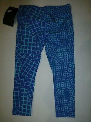 Nike Girls Comet Blue Leggings Size 4 XS New 36B849 3