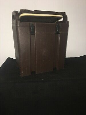 Cambro Brown Insulated Soup/Beverage Carrier 350LCD 3.3/8 Gallon Capacity. #12 10