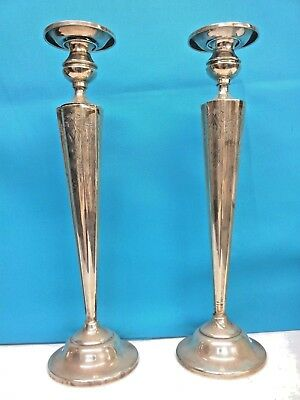 Antique Sterling Silver Candle Holder Height : 14 inches, Pair, PRICE REDUCED 6