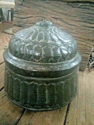 Antique Great Calligraphy Carved Copper Islamic Mughal Religious Big storage Box 2
