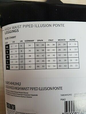 Pantacollant Leggings Leggins Contenitivo Modellante Nero Blu HUE  Misure S-M-L 5