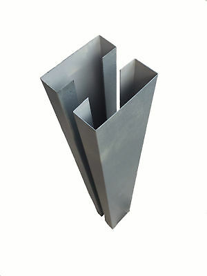 SLOTTED CONCRETE FENCE Post Extender fencing post Sleeve ...