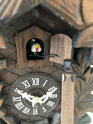 Vintage REGULA Hand Made Wooden Black Forest Cuckoo Clock Made in Germany 11