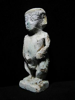 Zurqieh - Ancient Egypt - Huge Amulet Of A Dwarf, 600 - 300 B.c 4