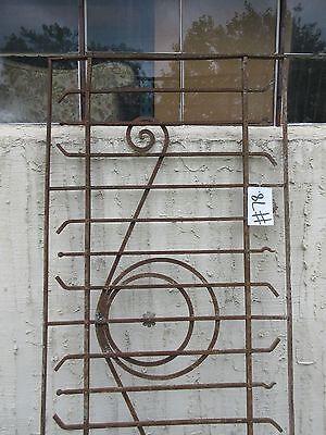 Antique Victorian Iron Gate Window Garden Fence Architectural Salvage Door #78 3