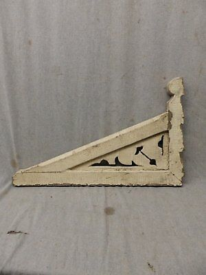 1 Antique Wood Corbel Shelf Bracket Shabby Vtg Porch Gingerbread 14x24 463-17P 5