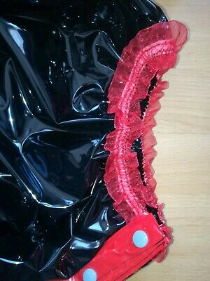 Adult Baby Body Spreizbody Windelbody DIAPER SPREIZHOSE PVC LACK STRAMPLER XL 6