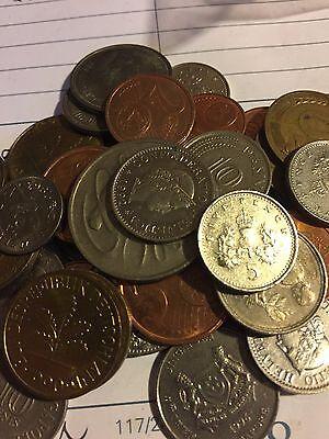 Neat Beginner Group! Mixed Bulk Lot of 100 Assorted Asian Coins