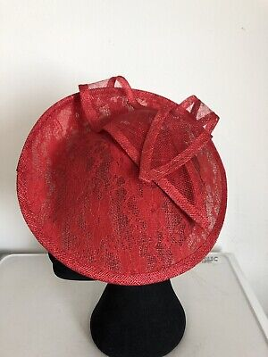 Red Lace Fascinator On Headband Weddings Christenings Ladies Day Ascot 2