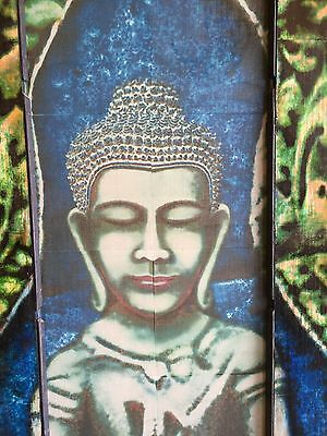 Buddha Painted & Framed By On Antique Door - Dana Kawano