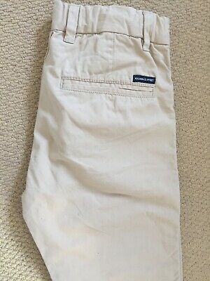 Polarn O Pyret Smart Cotton Beige Trousers Age 10-11 146cm Excel Cond 6
