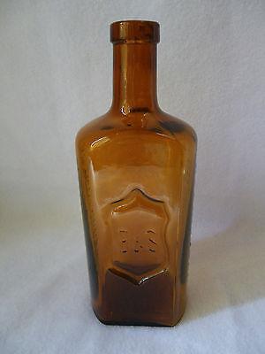 seltene alte Apothekerflasche Arsenferratose Boehringer B&S braune Flasche RAR