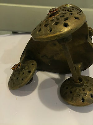 unknown ANTIQUE BRASS RELIGIOUS INCENSE TROLLEY  EUROPE 6