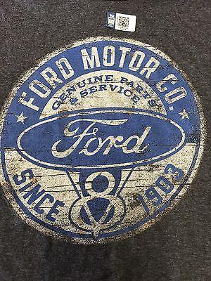 T-Shirt W/ Ford Motor Company Since 1903 V8 Emblem / Logo (Classic Distressed) 2