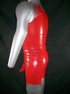 Red Fetish Bondage Rubber Latex Body Sheath 3350 Condom Gimp Gay Sexy Catsuit 10