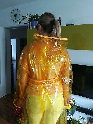 100% PVC Regencape Lack Gummimantel Raincoat Regenmantel Geschmeidig Vintage XL 9