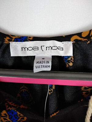 Moa Moa Womens Shirt Top Blouse Tassels Multi Color Size S Small NWT 3