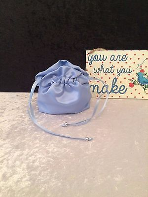 PLAIN DOLLY BAG BRIDAL BRIDESMAID FLOWER GIRL BNIP ASS. COLS. ** free samples** 4
