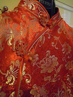 Cheongsam/qipao (Abito rosso e dorato tradizionale cinese) 2