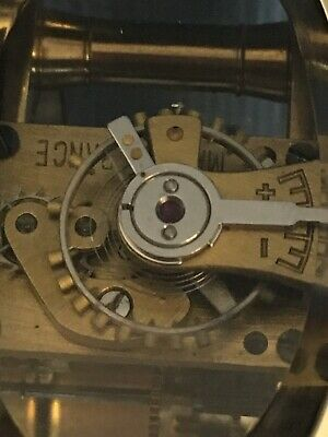 Nice Old c1920 Miniature Oval French Carriage Clock Original Lever Escapement 7