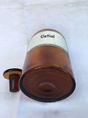 alte Apothekerflasche Braunglas Gefäß Apotheke 21,5cm Cetiol #17 4