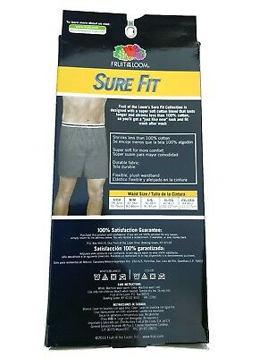 "Fruit of the Loom® MEN'S 3/6-PACK KNIT BOXER   ""SURE FIT & SUPER SOFT""    NEW!! 2"