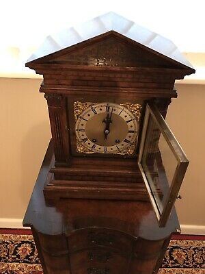 Antique Bracket Clock Winterhalder & Hofmeier Ting Tang Clock 6