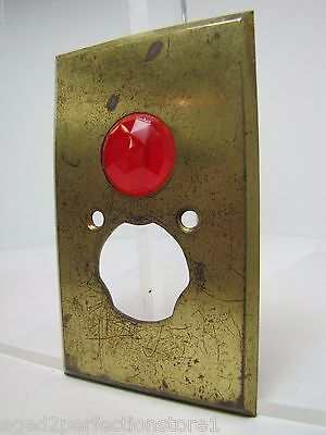 Antique Architectural Red Jeweled Glass Electrical Switch Cover Outlet Hardware 3