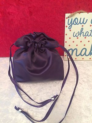 PLAIN DOLLY BAG BRIDAL BRIDESMAID FLOWER GIRL BNIP ASS. COLS. ** free samples** 12
