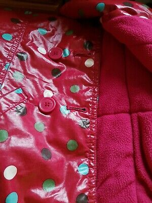 Baby GAP Girl's Red Spotted Raincoat - SIZE 3yrs 3