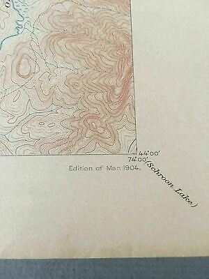 US Geological Survey Topography Map,1904  Quadrangle Santanoni , New York 4