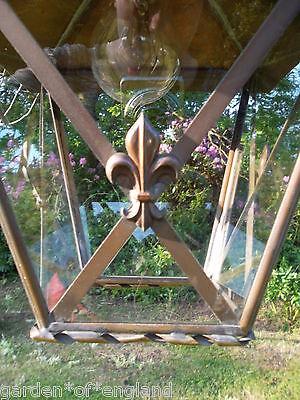 A very pretty unusual Vintage French brass lantern (T157) 5