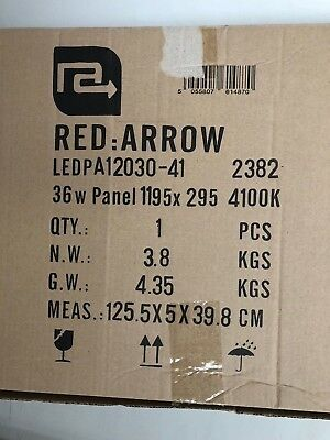 Pair Red Arrow 36w LED Panel Lights - 1195x295 - 4100k 5
