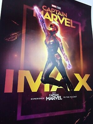 Captain Marvel 13 x 19 Poster Regal IMAX Week 1 Brie Larson Goose 2019 3