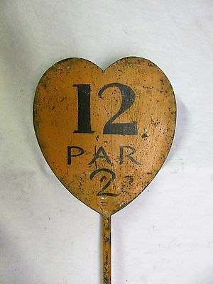 Vintage Painted Iron Golf Pin Marker From The Wood Shaft Golf Era