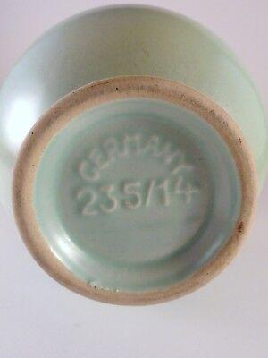 Germany Art Pottery Vase Celadon Green Jasba Keramik 235/14 Mid Century 3