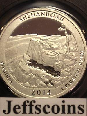 2014 P D Shenandoah National Park QUARTER Virginia STATE ATB 2 Coin SET New PD 2
