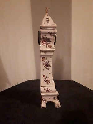 antique porcelain french  mantle clock by Diette Hour 3