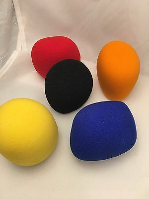 5 X  High Quality Microphone Windscreen Foam Mic Cover Extra Thick 15mm 10
